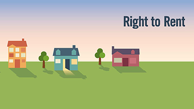 right to rent legislation for landlords houses graphic