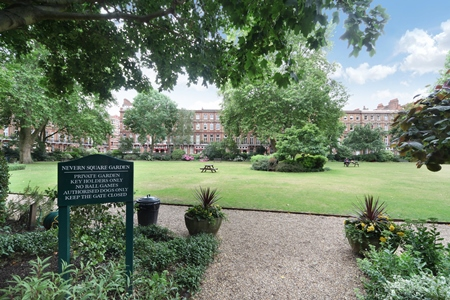 What is Earls Court like? Nevern Square Garden.