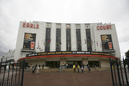 Earls Court Exhibition Centre front view. What is Earls Court like?