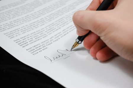 up front tenants fees ban - document signing