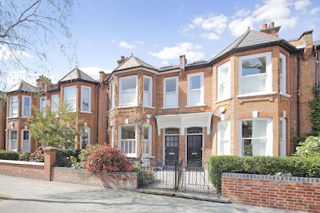 Edwardian redbrick houses in North Kensington