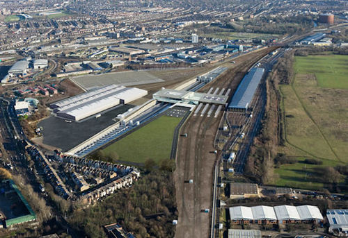 Old Oak Common development - aerial view