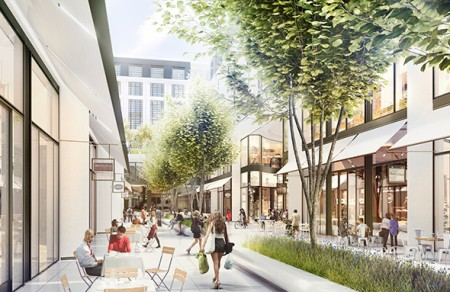 Whiteleys development plan courtyard view