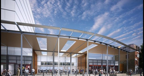 best places to invest in west London - Ealing Broadway Crossrail station CGI