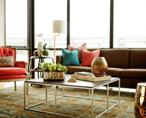 Top Tips for selling your house in Autumn - autumnal hues in a living room