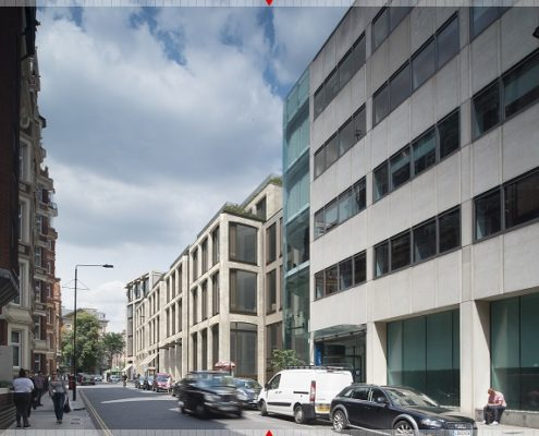 127 Kensington High St to be redeveloped - artist impression of Wrights Lane facade