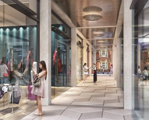 127 Kensington High Street to be redeveloped - artists impression of new arcade