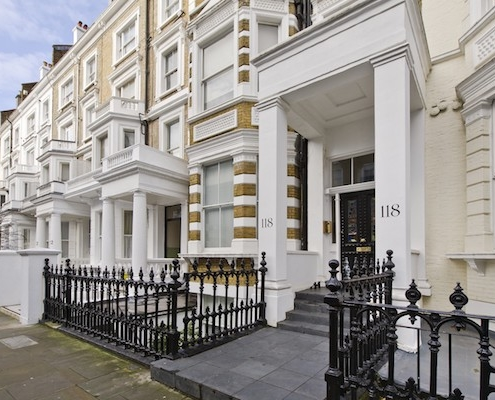 Tax and Lease Extensions for Freehold owners - view of Kensington terraced houses.