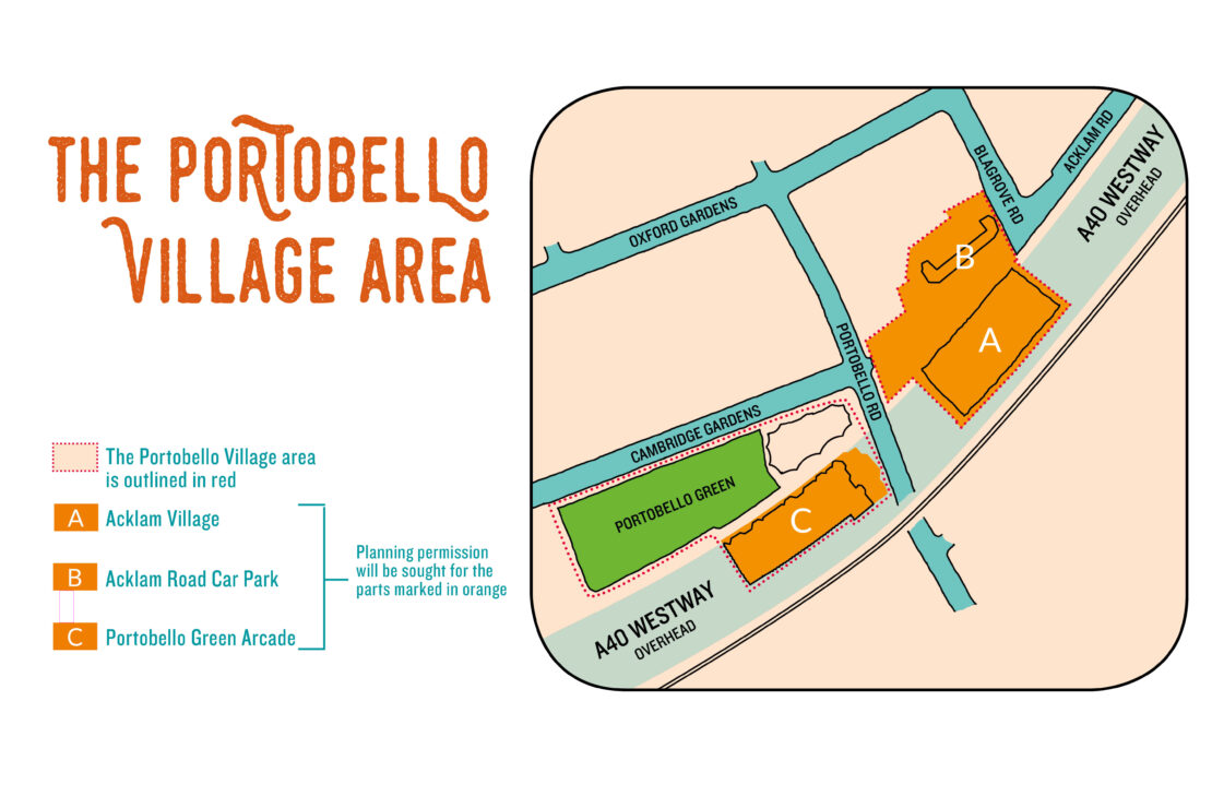 Portobello Village development – how the area under the Westway is shaping up for the future