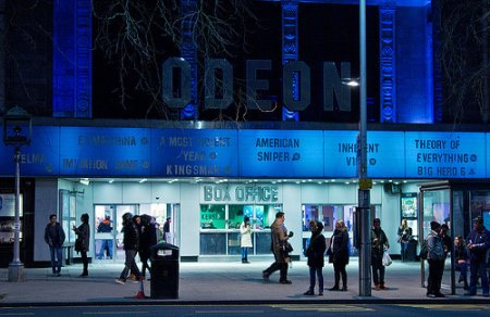 Future of Kensington Odeon- cinema exterior on a busy night
