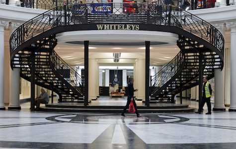 best places to invest in west London - Whiteleys Shopping Centre interior