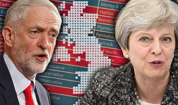 What does the election result mean for London property. Image of Jeremy Corbyn and Theresa May
