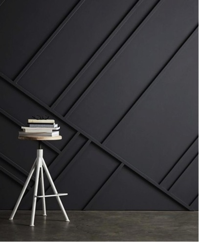 Interior design trends black walls and geometric patterns
