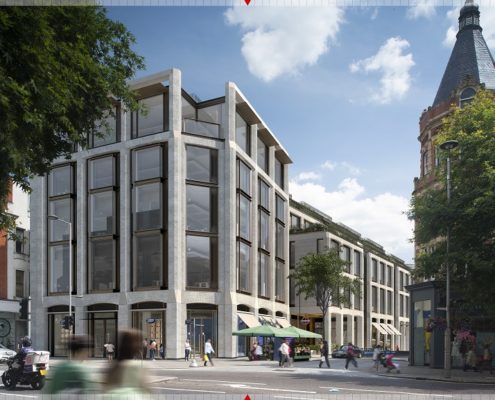 127 Kensington High Street to be redeveloped - proposed new elevation