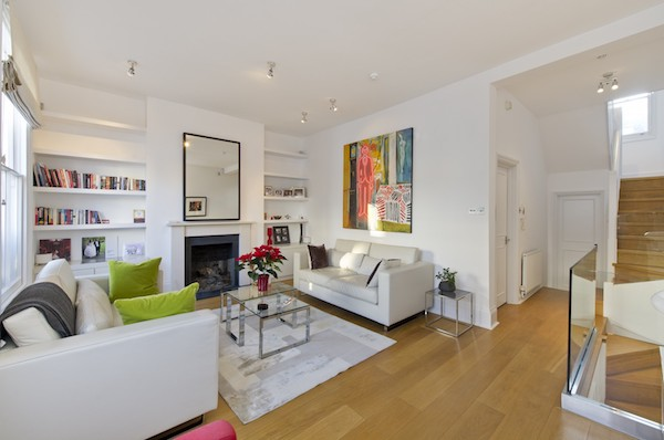 Kensington & Chelsea Property Sales Market Report Q2 2018 - view of modern living room in Kensington apartment