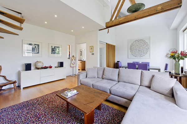Letting out your London property - Reception room with exposed beams